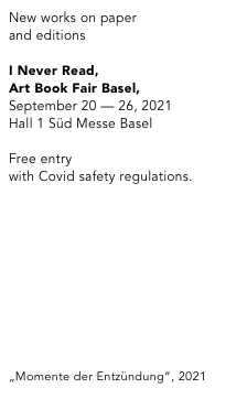 I Never Read, Art Book Fair Basel 2018